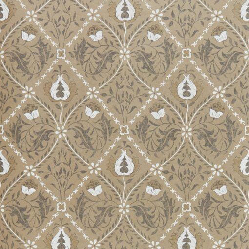 Pure Trellis Wallpaper from the Pure North Collection by Morris & Co. in Gold
