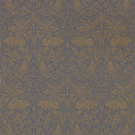Pure Brer Rabbit Wallpaper by Morris & Co. in Ink and Gold