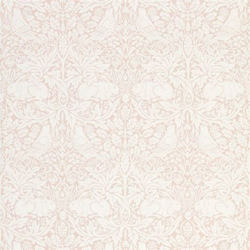 Pure Brer Rabbit Wallpaper by Morris & Co. in Faded Sea Pink