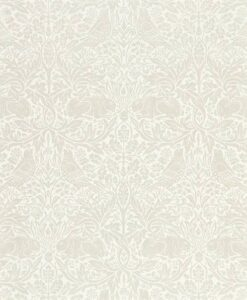 Pure Brer Rabbit Wallpaper by Morris & Co. in white clover