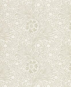 Pure Marigold Wallpaper by Morris & Co. in soft gilver