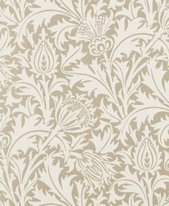 Pure Thistle Beaded wallpaper in Gilver by Morris & Co