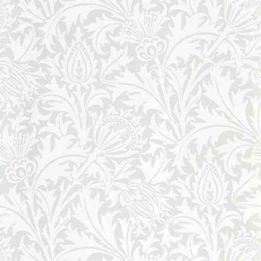 Pure Thistle Wallpaper by Morris & Co. from the Pure North Collection in Grey Blue