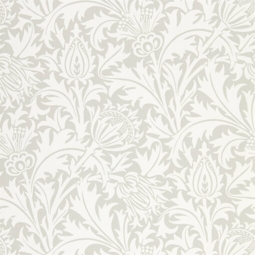 Pure Thistle Wallpaper by Morris & Co. from the Pure North Collection in Pebble