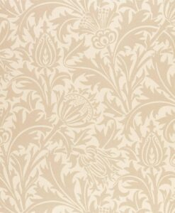 Pure Thistle Wallpaper by Morris & Co. from the Pure North Collection in Linen