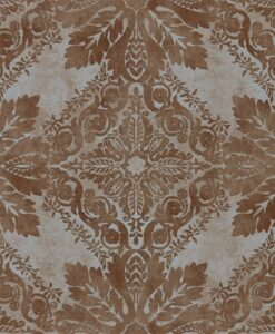 Medevi Mirror Wallpaper from the Phaedra Collection by Zophany in Vintage Copper