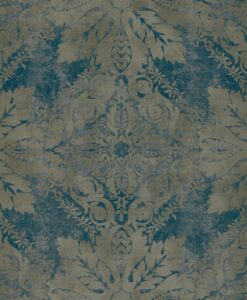 Medevi Mirror Wallpaper from the Phaedra Collection by Zophany in Petrol