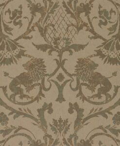 Landseer Wallpaper by Zophany in Verdigris