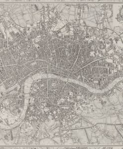 London 1832 Wallpaper by Zophany - Map of London in 1832