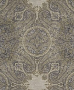 Elswick Paisley Wallpaper from the Kempshott Collection in Blue Umber