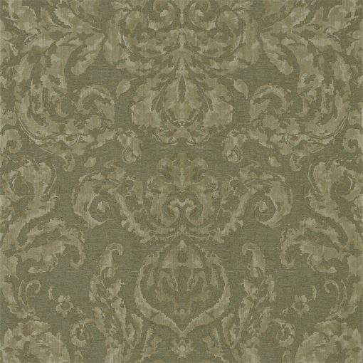Brocatello Wallpaper from the Damask Wallpapers Collection by Zophany in Olivine