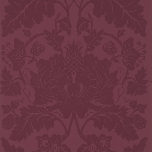 Villandry Wallpaper from the Damask Wallpaper Collection by Zophany in Cinnabar