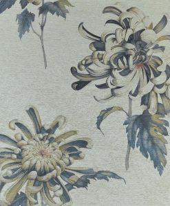 Evelyn Wallpaper from The Muse Collection by Zophany in Tigers Eye and Bluestone