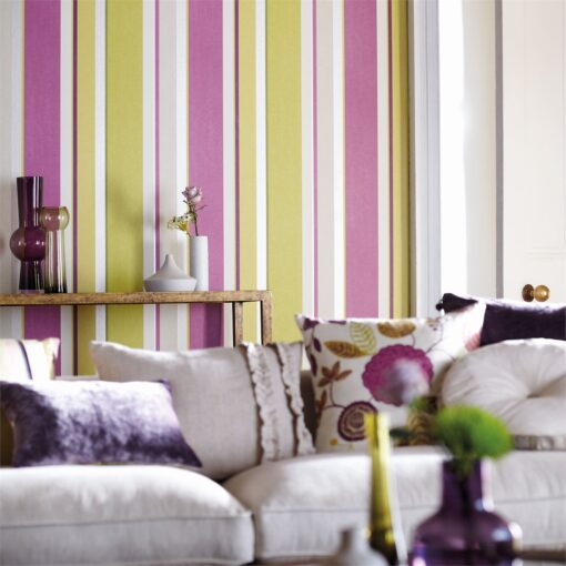 Bella Stripe Wallpaper from the Anoushka Collection