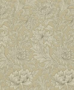 Chrysanthemum Toile in Ivory & Gold