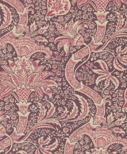 Indian Wallpaper in Wine and Heather