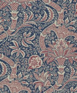 Indian wallpaper in Indigo and Red
