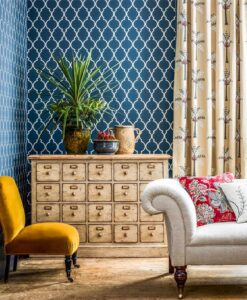 Empire Trellis Wallpaper from the Art of the Garden Collection by Sanderson Home