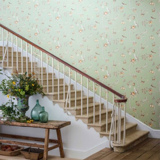 Fruit Aviary wallpaper from the Art of the Garden Collection by Sanderson Home