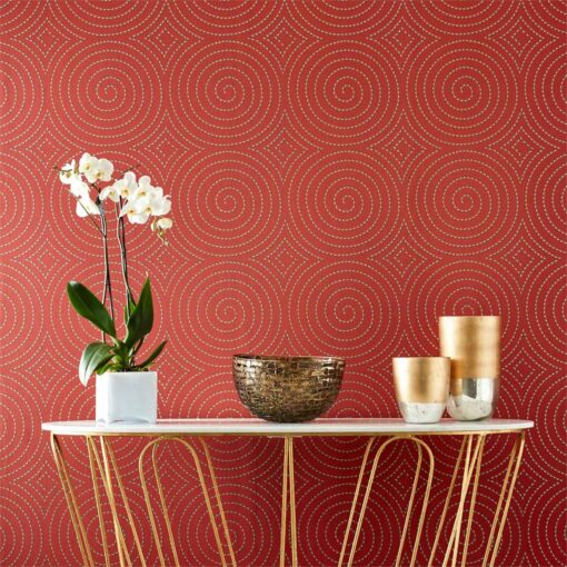 Sakura Wallpaper from the Momentum 04 Collection - in red