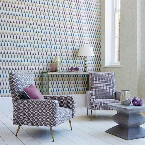 Azul Wallpaper from the Tresilio Collection by Harlequin
