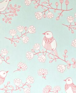Sugar Tree wallpaper by Majvillan in Turquoise