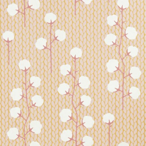 Sweet Cotton Wallpaper by Majvillan in Pink