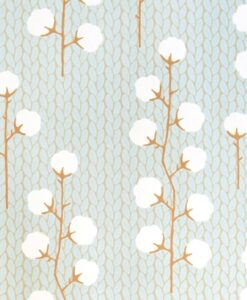 Sweet Cotton Wallpaper by Majvillan in Turquoise