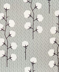 Sweet Cotton Wallpaper by Majvillan in Grey