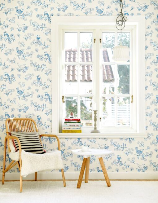 Sugar Tree wallpaper in Blue 106-01