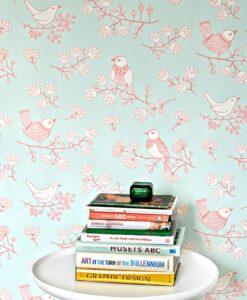 Sugar Tree wallpaper by Majvillan in Turquoise 106-04