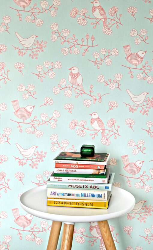 Sugar Tree wallpaper by Majvillan in Turquoise 106-04