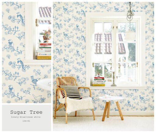 Sugar Tree wallpaper by Majvillian in Blue 106-01