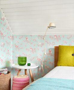 Sugar Tree wallpaper by Majvillian in Turquoise 106-04