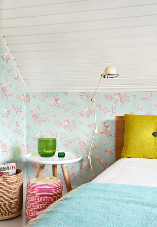 Sugar Tree wallpaper by Majvillian in Turquoise 106-04