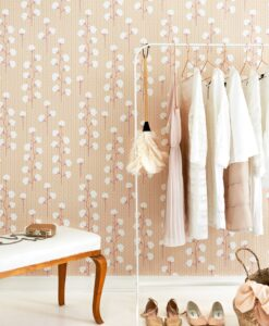 Sweet Cotton wallpaper in pink by Majvillan 108-01