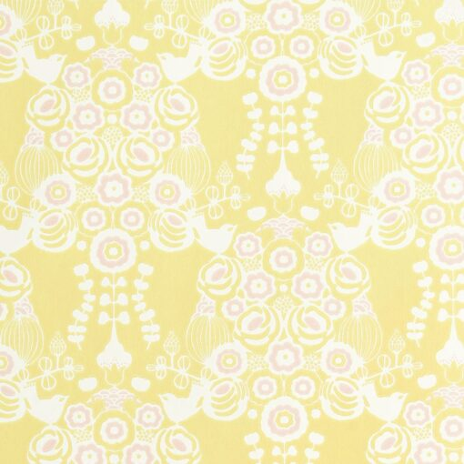 Estelle Wallpaper by Majvillan in yellow