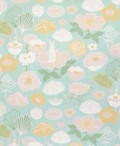 114-02 Little Light Wallpaper by Majvillan in turquoise