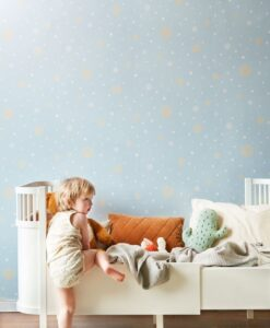 Confetti Wallpaper by Majvillan in Blue 117-05 B