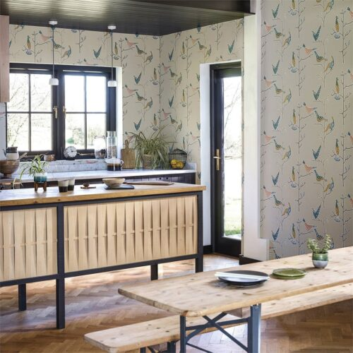 Passaro wallpaper in a kitchen