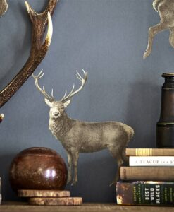 Evesham Deer Wallpaper from the Elysian Collection by Sanderson