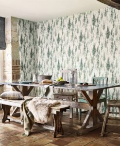 Juniper Pine Wallpaper from the Elysian Collection by Sanderson