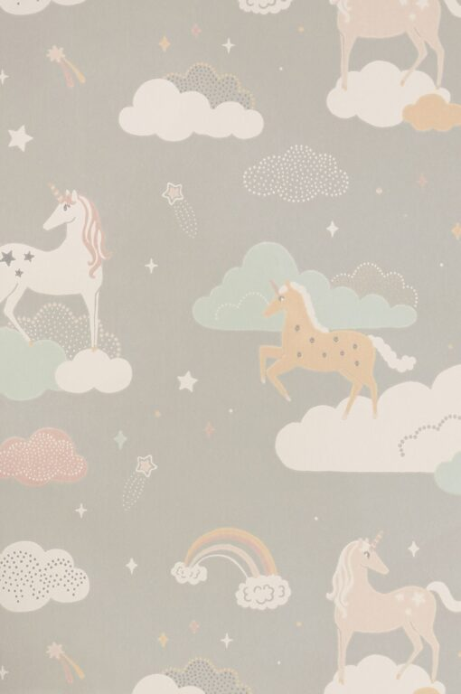 Rainbow Treasures Wallpaper by Majvillan in Mud grey