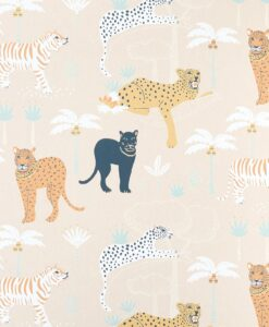 Black panther wallpaper in Creamy orange