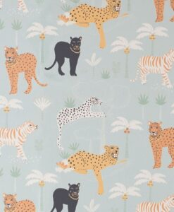 Black panther wallpaper in Twilight Blue