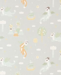 Magical Adventure Wallpaper in dusty grey