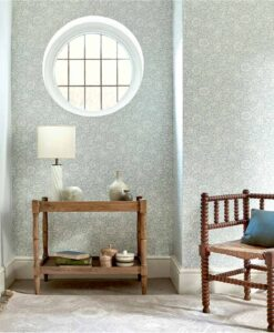 Mallow wallpaper from the Melsetter Collection by Morris & Co.